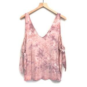 AEO Soft & Sexy Pink Tie Dye Top - Size XXL